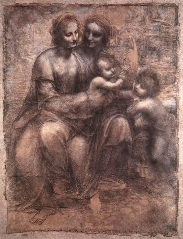 Святая Анна с Марией, младенцем Христом и Иоанном Крестителем Леонардо да Винчи