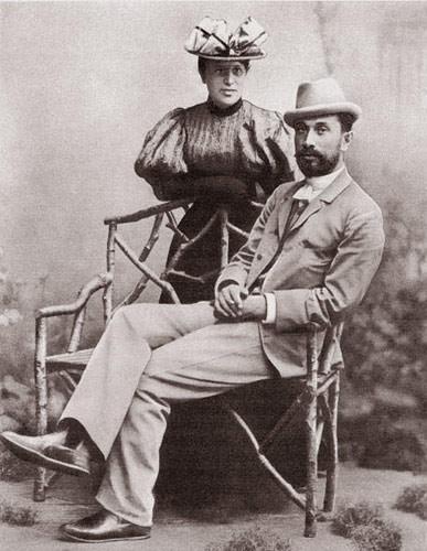 Л.О.Пастернак с женой Розалией  Исидоровной