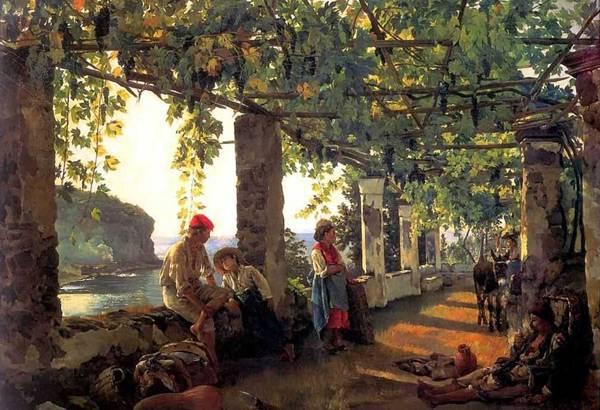 Веранда, увитая виноградом. 1828. Сильвестр Феодосиевич Щедрин.
