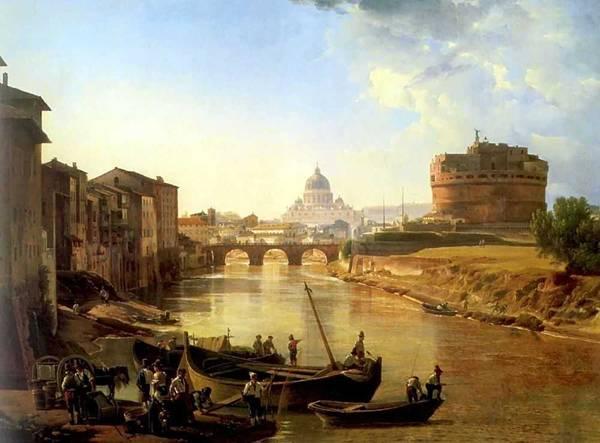 Новый Рим. Замок Святого Ангела 1825 Сильвестр Феодосиевич Щедрин.