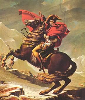 Давид Жак-Луи. Переход Наполеона через Альпы.