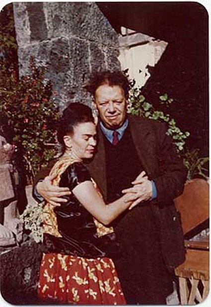 1948 - Frida Kahlo and Diego Rivera, Coyoacan, Mexico