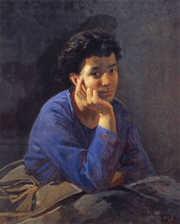 Портрет неизвестной в голубой