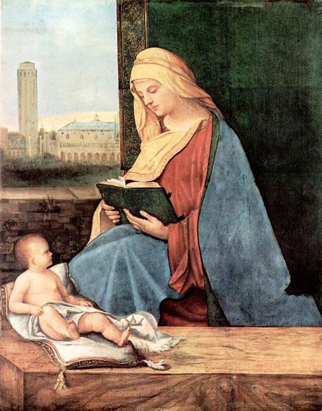 """Схема вышивки  """"Дуччо ди Буонинсенья.Мадонна с младенцем и двумя ангелами."""