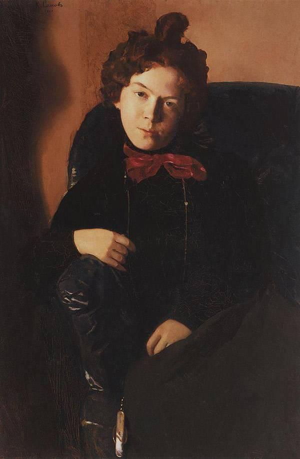 Сомов Портрет А.П.Остроумовой. 1901