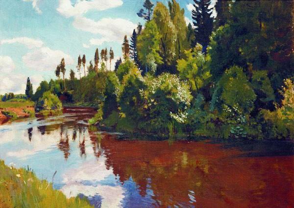 Устье реки Орлинки. 1928. Художник Рылов