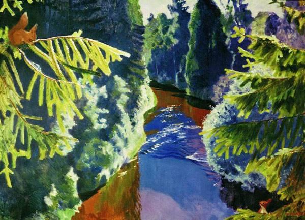 Лесная река. 1929