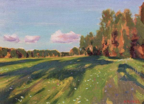 Пейзаж. Летний этюд (Тихий вечер). 1914