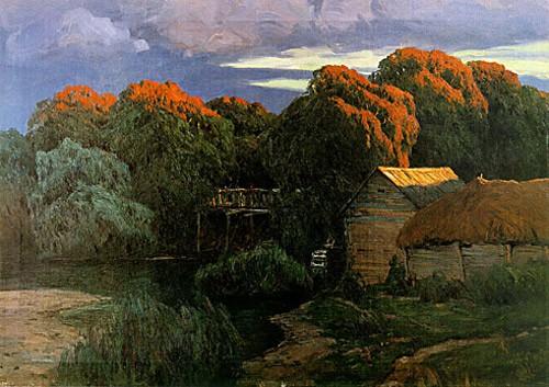 Закат. мельница. 1906 г.