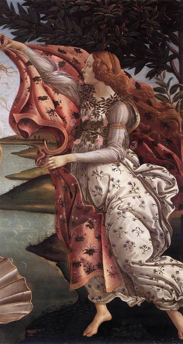 Рождение Венеры.  Фрагмент