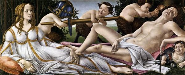 Сандро Боттичелли Венера и Марс