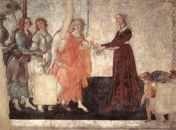 Джованна Альбицци с Венерой и грациями