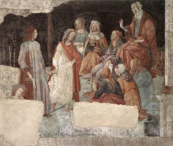 Сандро Боттичелли Лоренцо Торнабуони перед аллегорическими фигурами семи свободных искусств.