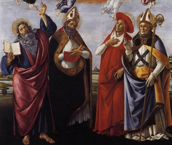 Коронование Марии.  Фрагмент