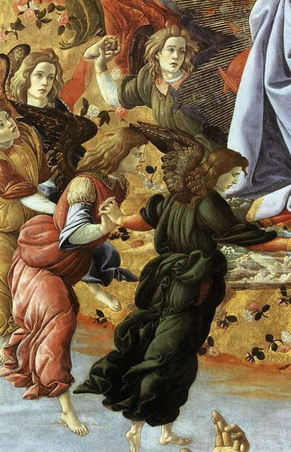 Боттичелли Коронование Марии.  Фрагмент