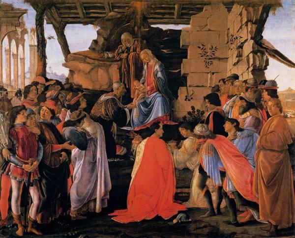 Боттичелли Поклонение Волхвов