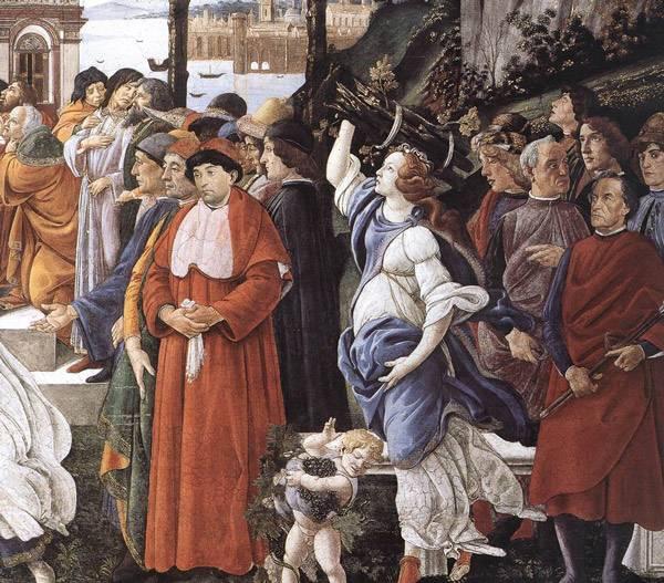 Сандро Боттичелли Три искушения Христа. Фрагмент