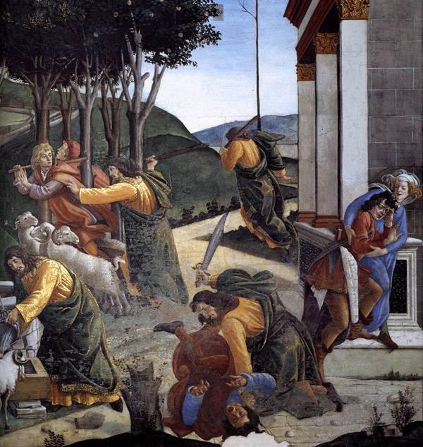 Сцены из жизни Моисея. Фрагмент