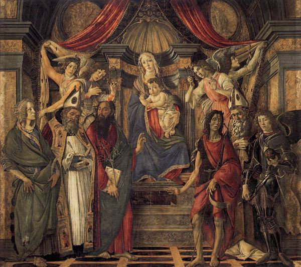 Сандро Боттичелли Мадонна на троне со святыми