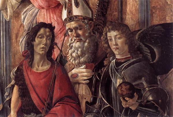 Мадонна на троне со святыми. Фрагмент