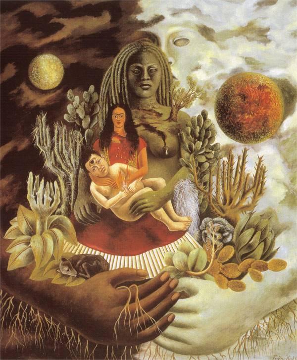 Объятия вселенской любви, Земля, я, Диего и Коатль, 1949