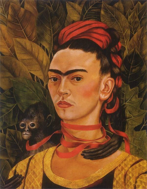 Автопортрет с обезьянкой