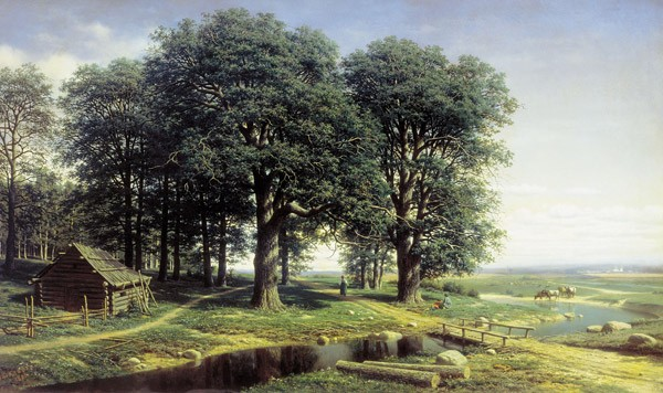 ...из первых российских художников, объединивших жанровую картину с эпическим пейзажем.