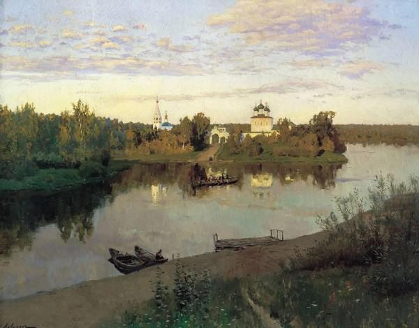 пейзажи Левитана Вечерний звон. 1892