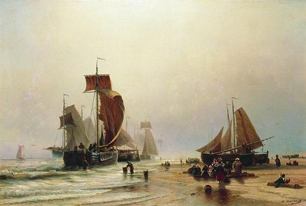 картина Боголюбова Вид в Нормандии. 1870