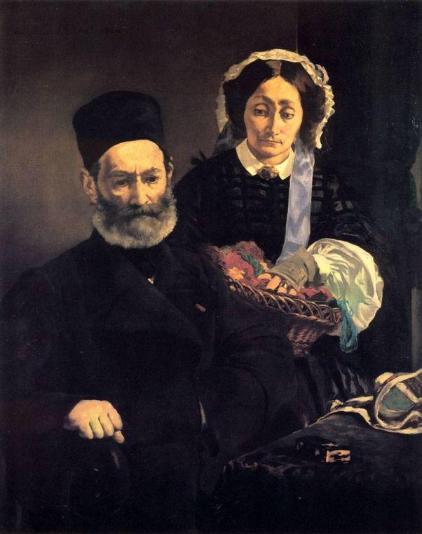 Портрет родителей. Эдуард Мане