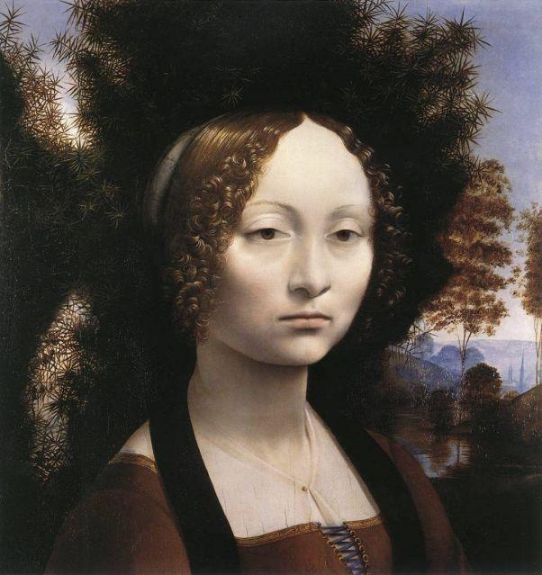 Портрет Джиневры де Бенчи. 1474. Леонардо да Винчи
