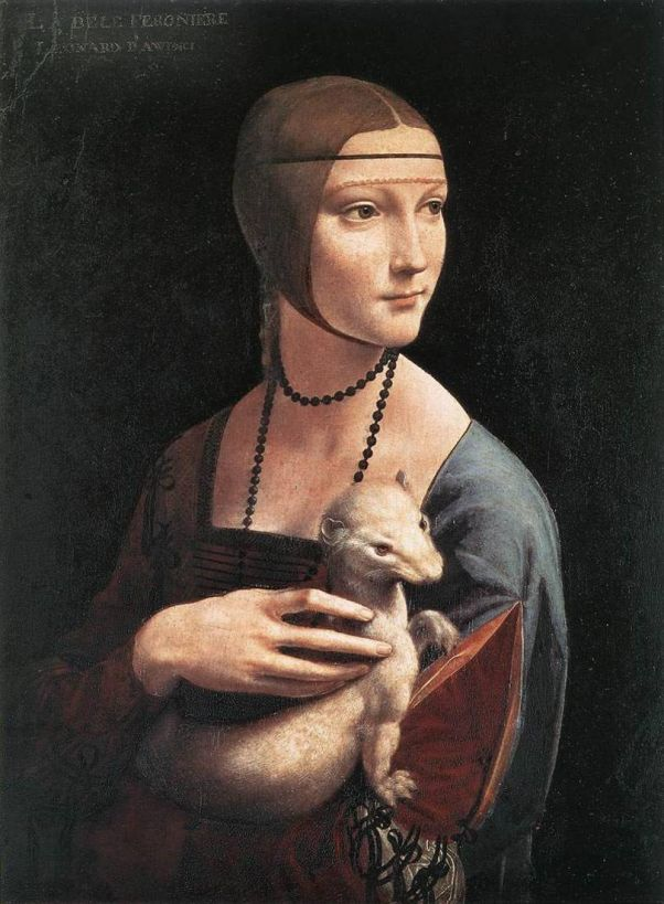 Дама с горностаем. Портрет Чечилии Галлерани. Леонардо да Винчи