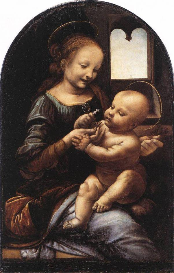 Мадонна Бенуа. Леонардо да Винчи