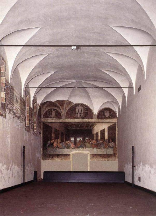 Леонардо да Винчи. Фреска