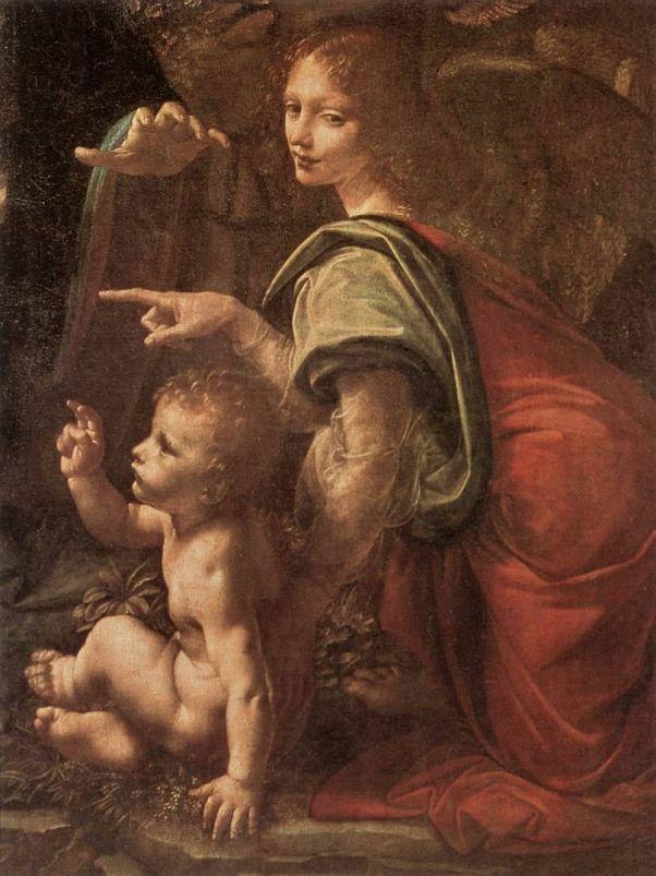 Фрагмент Мадонна в гроте. Леонардо да Винчи