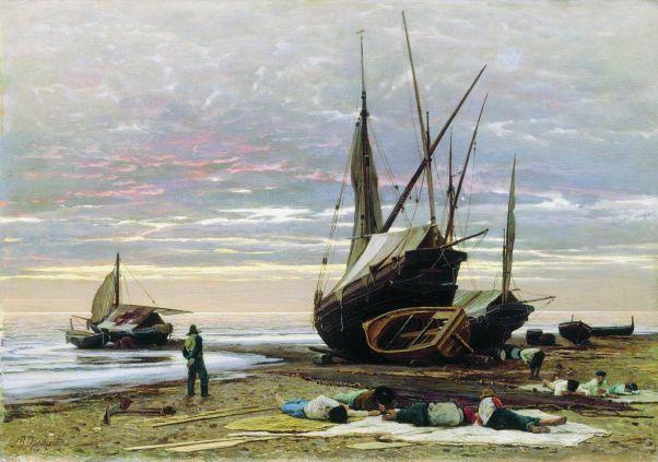 Вечер. Берег моря. 1874