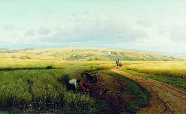 Костер в поле