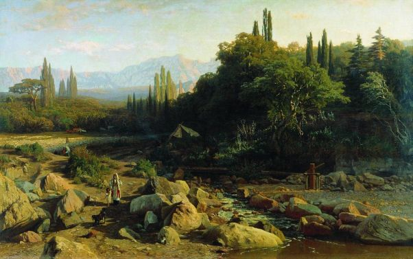 Крым. Пейзаж с речкой. 1868