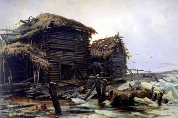 Заброшенная мельница. Полотно Ивана Шишкина