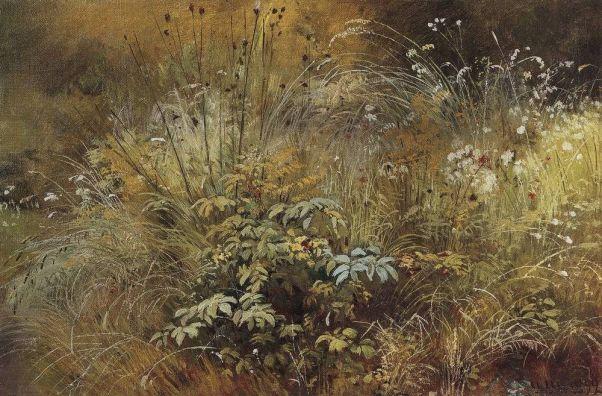 Травки.Этюд 1892