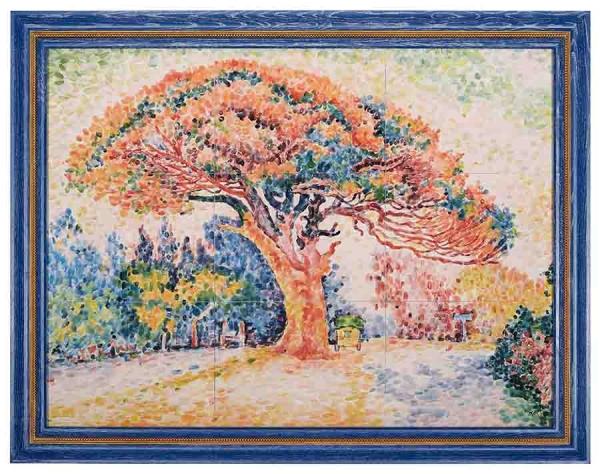 Керамическая картина по мотивам работы Поля Синьяка «Сосна в Сен-Тропе»
