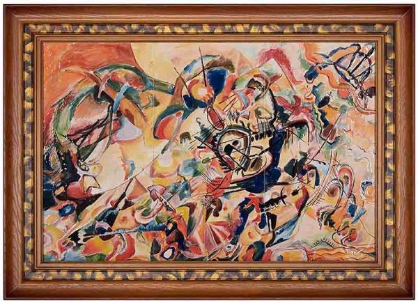 Керамическая картина по мотивам работы Василия Кандинского «Композиция VII»