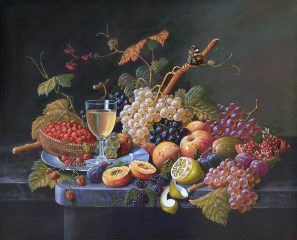 Фрукты и ягоды Вольная копия Эмиля Прэйера