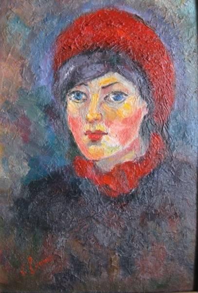Девушка с красным