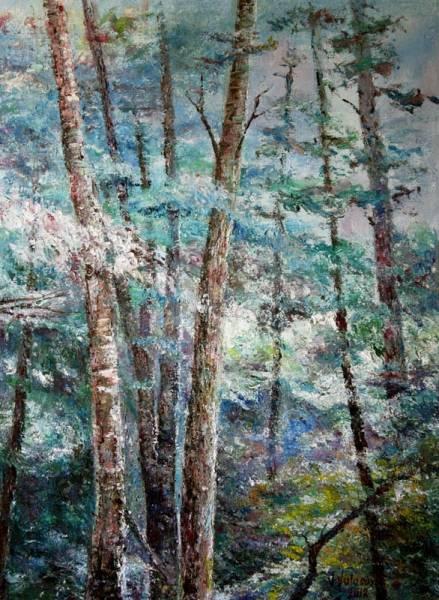 Пейзаж в голубых тонах