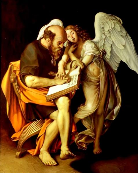 Апостол Матфей и Ангел (коп с Караваджо)