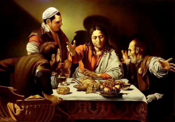 Христос в Эммаусе (коп с Караваджо)