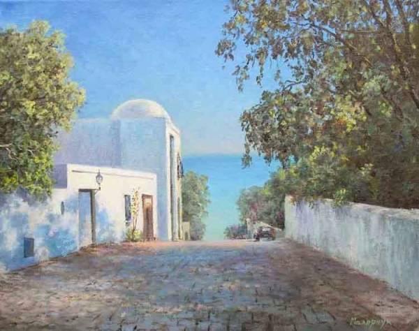 Тунис улочка г.Сиди Бу Саид /  Станислав Малярчук