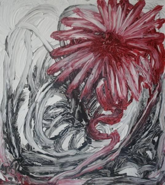 Красный цветок...... /  Татьяна Гринберг