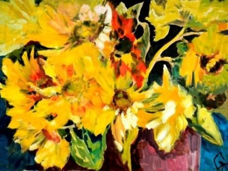 Мои подсолнухи(My sunflowers)